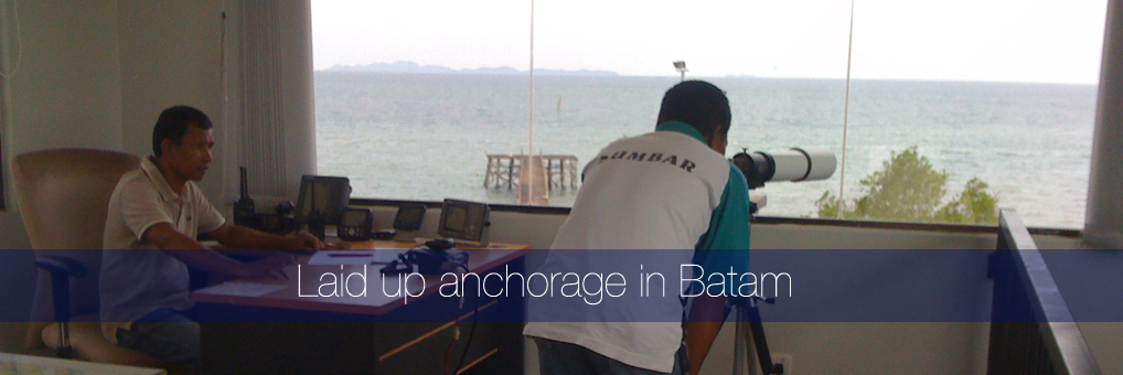 Our laid up anchorage in Batam